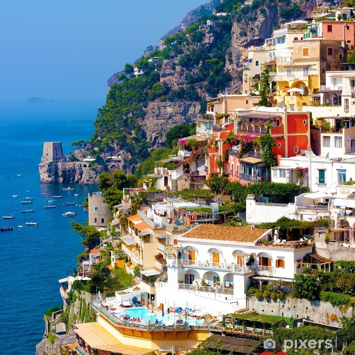 Vinil Duvar Resmi Positano, İtalya. Amalfi Coast -