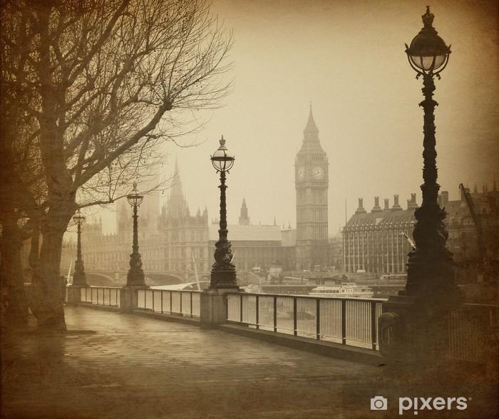 Fotomural Estándar Vintage Retro Picture of Big Ben / Casas del Parlamento (Londres) - Temas