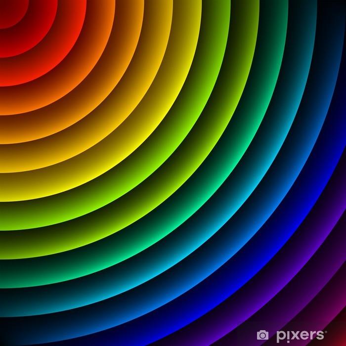 Plakat Tęcza kolorowe pasy abstrakcyjne tło wektor - Religie