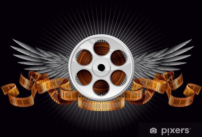 Naklejka Pixerstick Szpula Film ze skrzydłami - Rozrywka