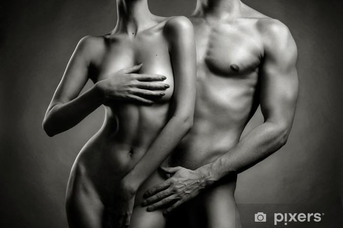 Nude sensual couple Pixerstick Sticker - Nudity