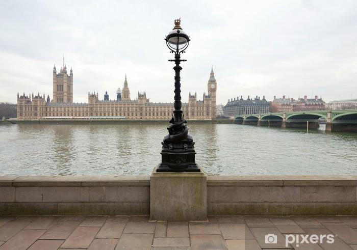 Papier peint vinyle Vue du palais de Westminster de la Tamise - Thèmes
