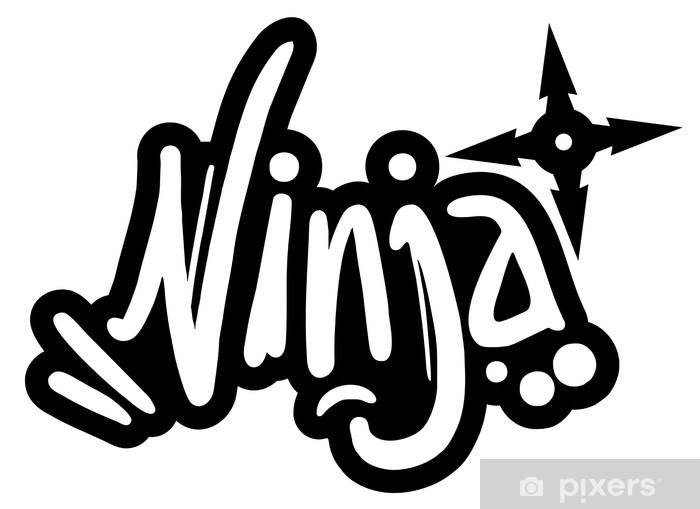 Pixerstick Sticker Ninja banner - Muursticker