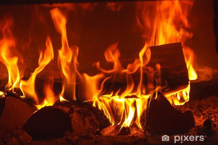 Fototapeta winylowa Ogień w kominku - Tekstury
