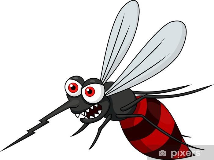 Carta da parati angry zanzara cartone animato u pixers