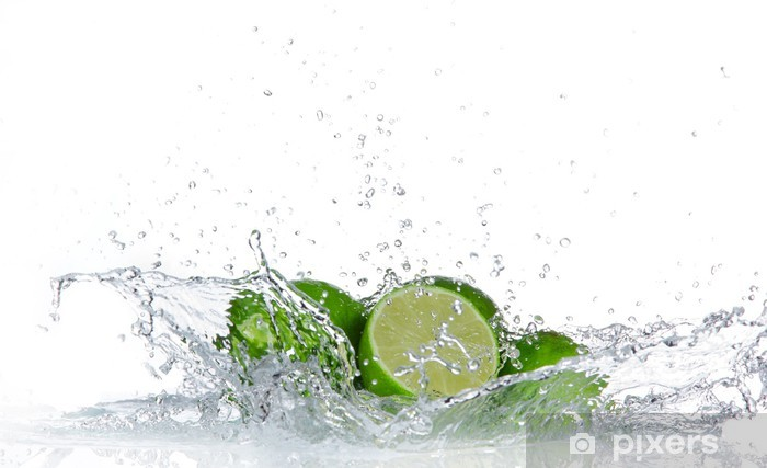 Naklejka Pixerstick Limes z wody powitalny samodzielnie na białym tle - Owoce
