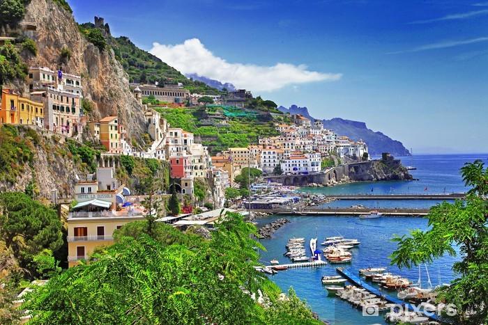 Pixerstick Aufkleber Amalfi-Küste. Italien - Themen