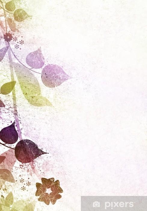 Vinylová fototapeta Floral vintage rám s použitými papírové pozadí - Vinylová fototapeta