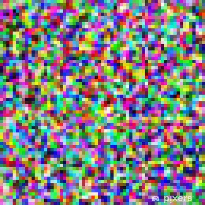Vinilo pixerstick p xeles colorido mosaico de fondo de resumen pixers vivimos para cambiar - Fotomurales pixel ...