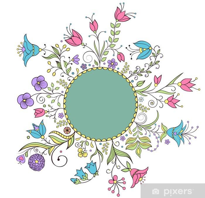 Ramme af skønhed blomster til dig design Plakat • Pixers® - Vi lever for  forandringer