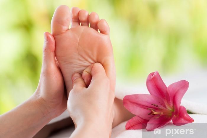 Pixerstick Sticker Handen die voetreflexologie. - Schoonheid en Lichaamsverzorging
