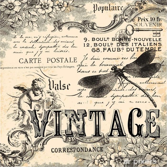 Fototapeta winylowa Kolaż archiwalne tła - Style