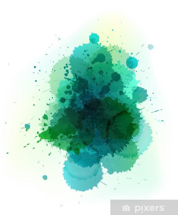 Vinyl Fotobehang Vector aquarel splatter - Thema's