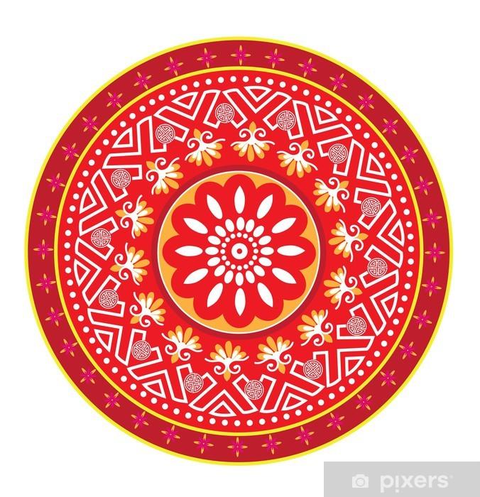 Adesivo Pixerstick Classical Oriental Pattern - Asia