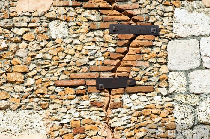 Naklejka Pixerstick Tekstury ścian z kamienia - Tekstury