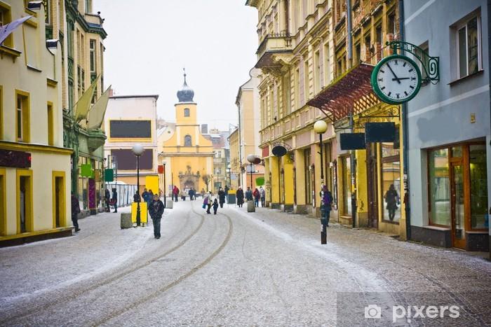 Nálepka Pixerstick Jelenia Gora v zimním období, Polsko - Město