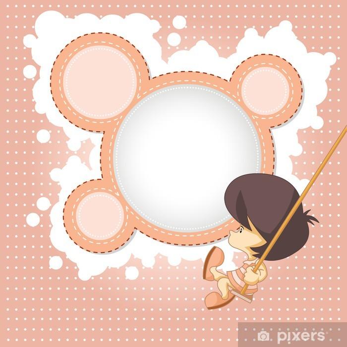 Madchen Silhouette Vorlage Fur Design Fototapete