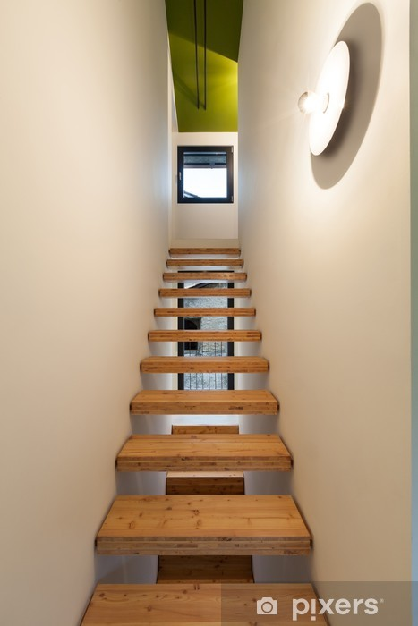 wooden stairs Vinyl Wall Mural - Themes