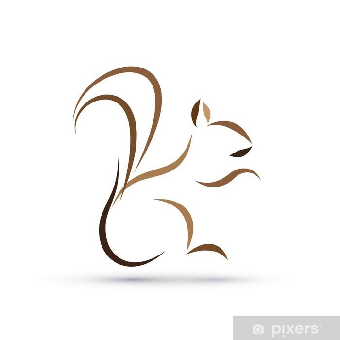 Sticker Pixerstick Vector logo écureuil - Signes et symboles