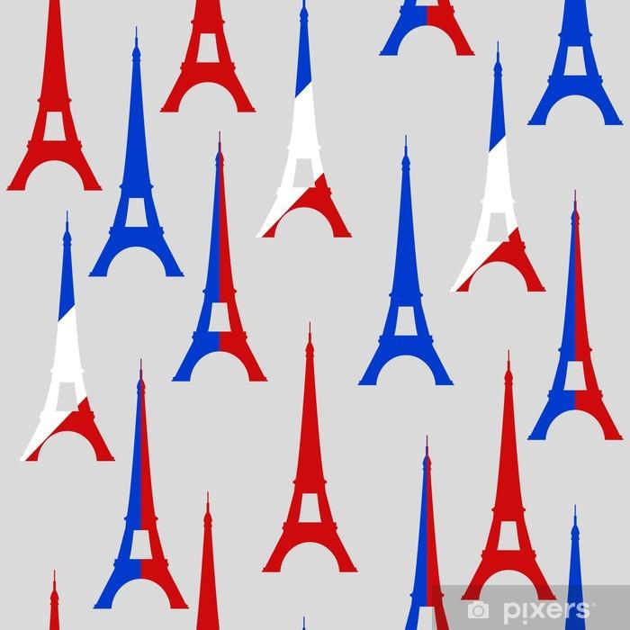 Vinyl Fotobehang Tour Eiffel naadloze patroon - Europese steden