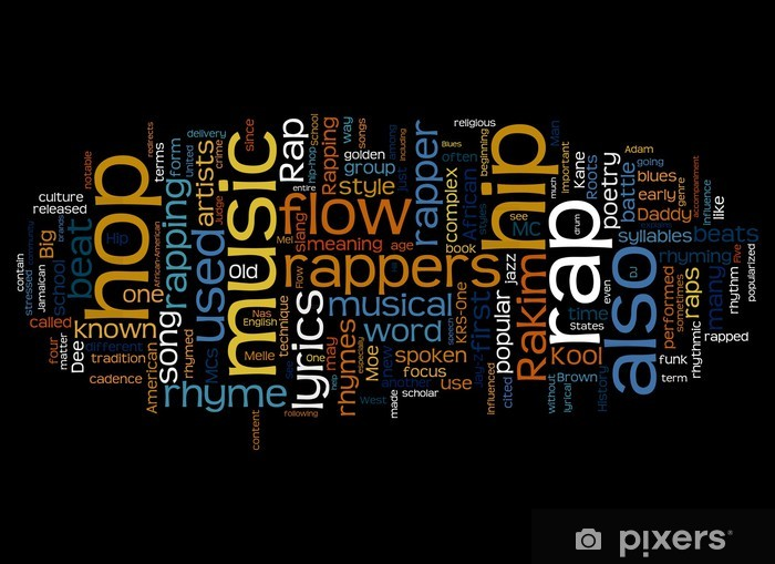 Nálepka Pixerstick RAP Music - Hip hop