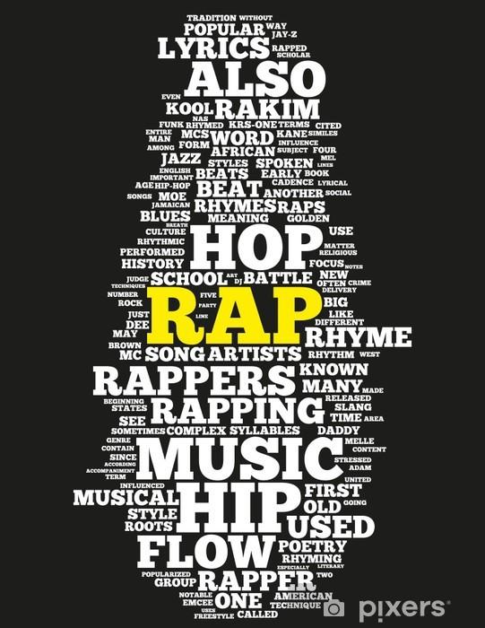 RAP Music Pixerstick Sticker - Hip Hop