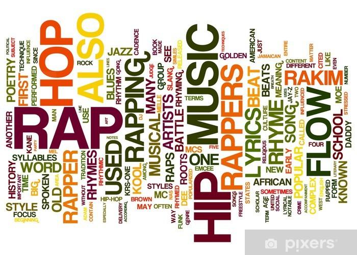 Pixerstick Dekor RAP Music - Hio hop