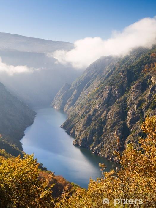 Naklejka Pixerstick Sil kanion rzeki, w Orense, Hiszpania - Góry