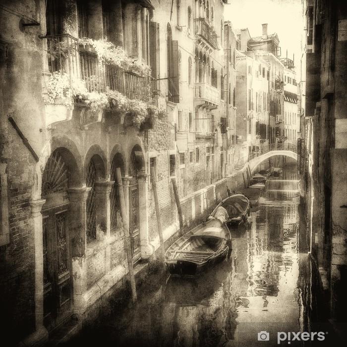 Póster Imagen de la vendimia de canales de Venecia - Temas