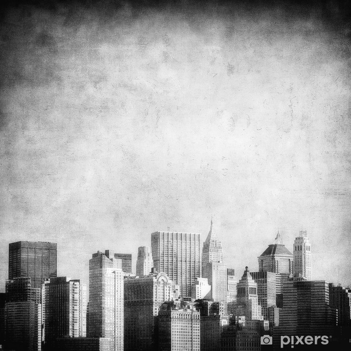 Grunge Image Of New York Skyline Wall Mural Vinyl