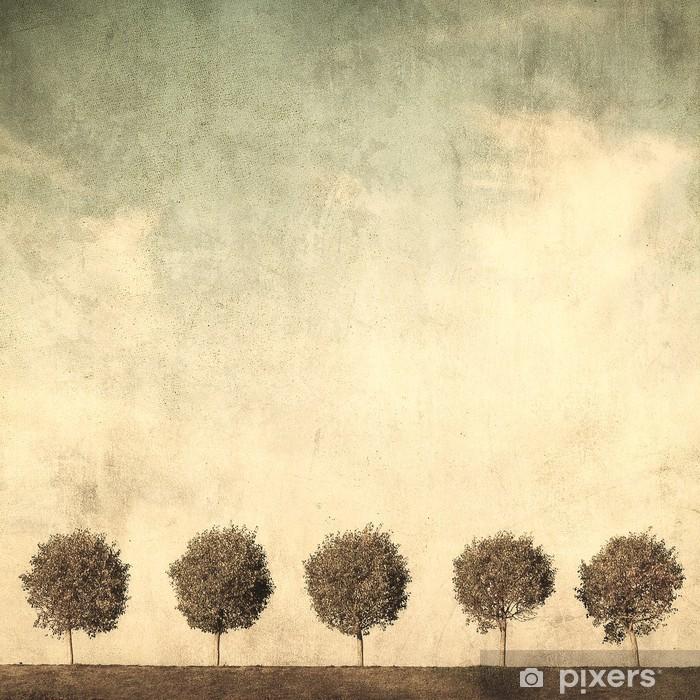 Carta da Parati in Vinile Grunge immagine di alberi - Stili