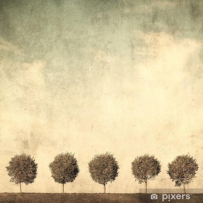grunge image of trees Vinyl Wall Mural - Styles