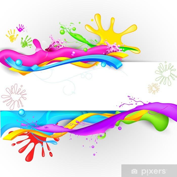 Papier peint vinyle Splash coloré dans Holi Wallpaper - Abstrait