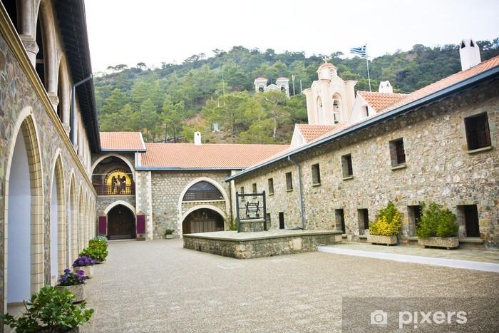 Fototapeta winylowa Klasztor Matki Bożej z Kykkos w górach Troodos na Cyprze. - Budynki użyteczności publicznej