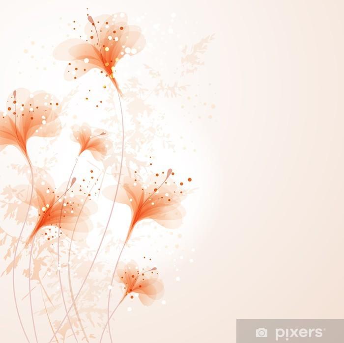 Plakat Background z flowes - Święta Narodowe