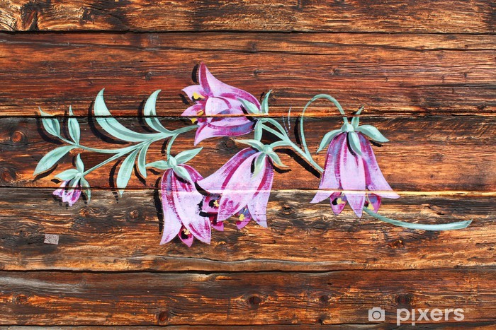 Verwonderend Fotobehang Klokjes (schilderen op hout) • Pixers® - We leven om te QM-12