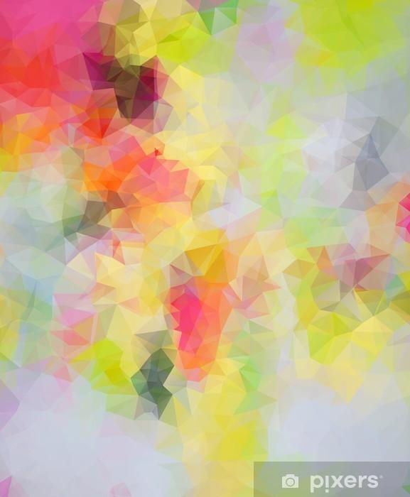 Pixerstick Sticker Abstracte Driehoek Achtergrond -