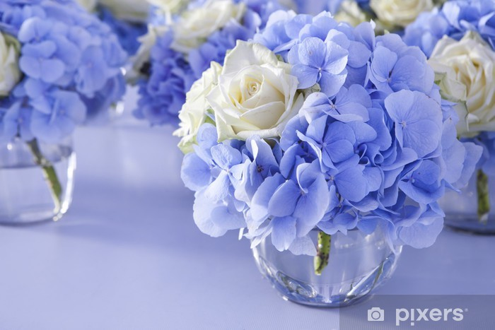 Flower In Vase Of Glass Decoration Of Dining Table Sticker