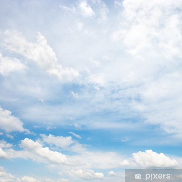 white fluffy clouds Poster - Skies