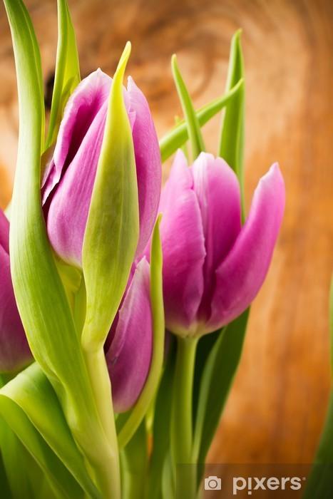 Tulips. Pixerstick Sticker - Themes
