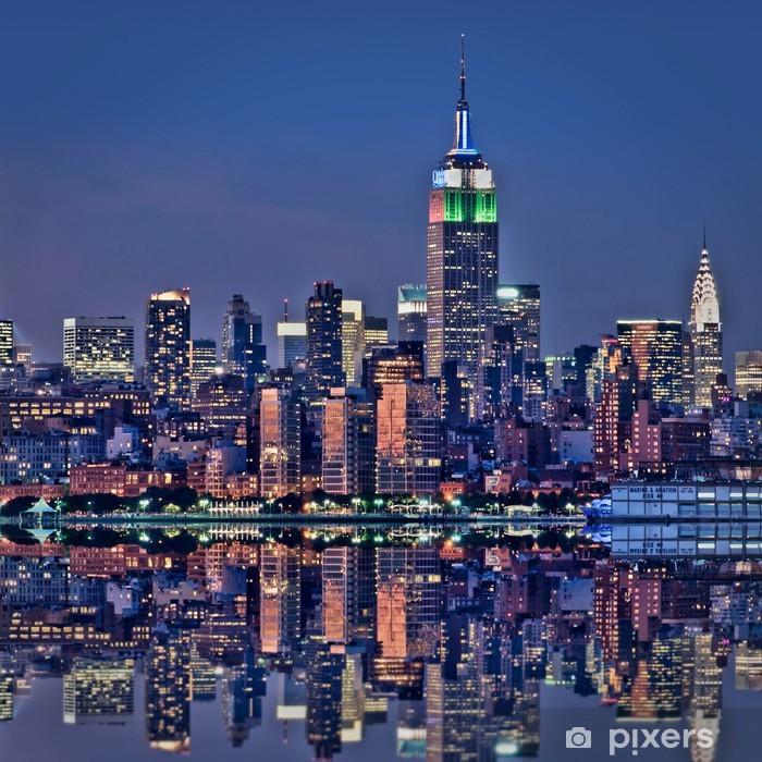 Naklejka Pixerstick New York, Empire State Building de nuit - Tematy