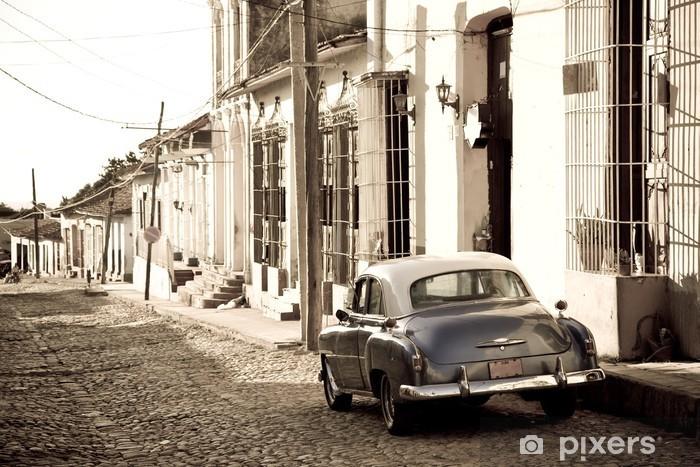 Vinil Duvar Resmi Antika araba, Trinidad -