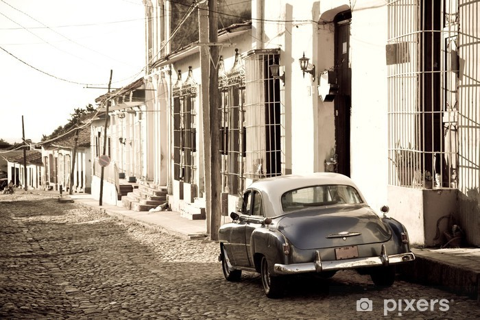 Fototapeta winylowa Antique samochód, Trinidad - Tematy