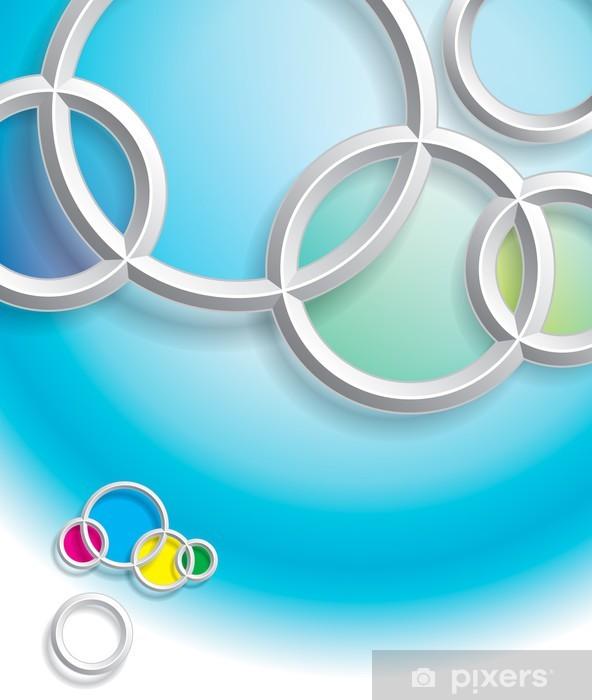 Sticker Pixerstick Résumé des cercles arrière-plan avec l'ombre. - Abstrait
