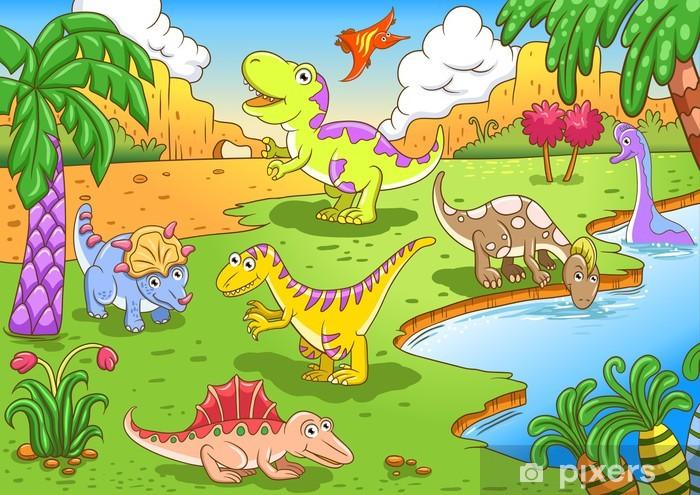Fotomural Dinosaurios Lindos En Escena Prehistorica Pixers Vivimos Para Cambiar Su desaparición fue parte de una de las grandes extinciones del planeta. fotomural dinosaurios lindos en escena prehistorica pixers vivimos para cambiar