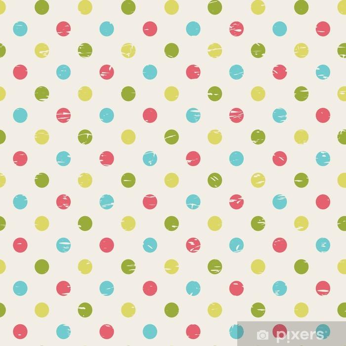 retro seamless pattern with polka dots Pixerstick Sticker - Themes