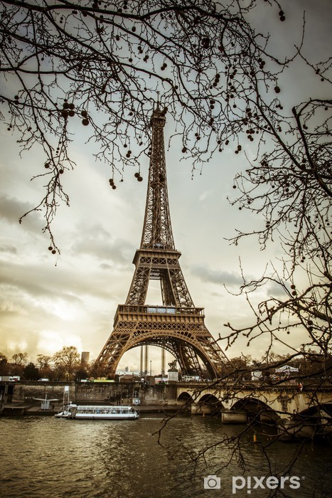 View of the Eiffel Tower Vinyl Wall Mural - Themes