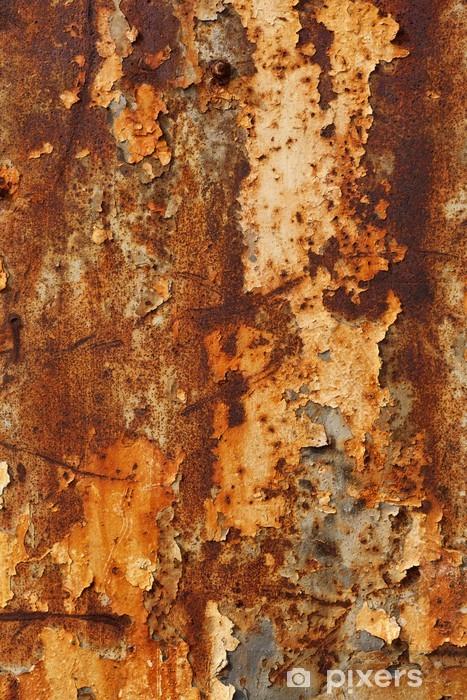 Rusty Metal Weathered Vinyl Wall Mural - Styles