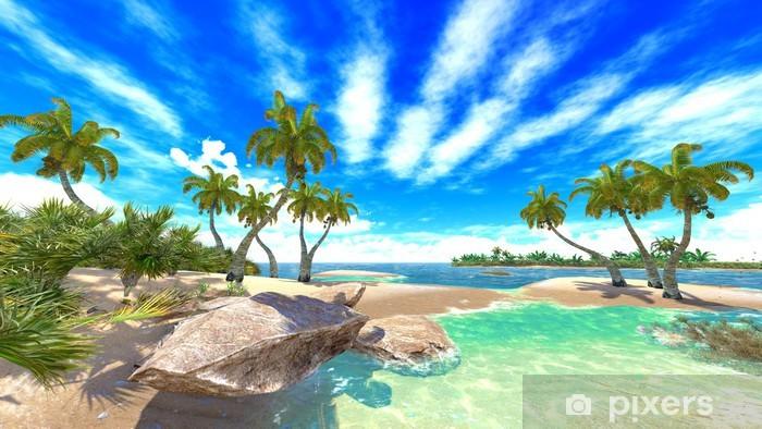 Fototapeta winylowa Tropikalny raj na plaży - Hawaje