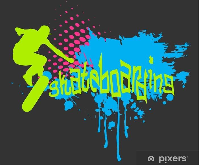 Fototapeta winylowa Abstract background z obuwniczą - Skateboarding